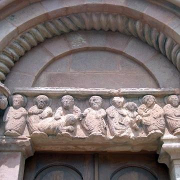 Chiesa di San Pietro di Zuri - Particolare del Portone